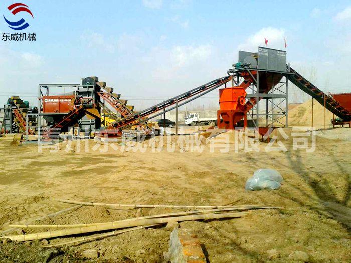 山东诸城大型破碎链斗洗沙生产线