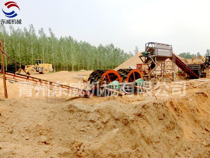 山东沂南3024型破碎轮式洗沙机